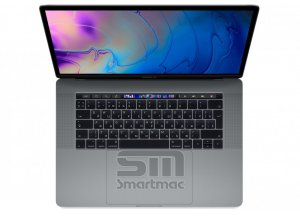 "Ноутбук Apple MacBook Pro 15"" Core i7 2,2 ГГц, 16 ГБ, 256 ГБ SSD, Radeon Pro 555X, Touch Bar Space Gray Space Gray «Серый Космос» MR932RU/A"